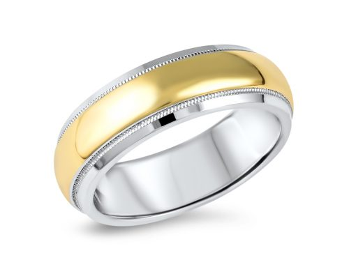 Gold & platinum wedding band