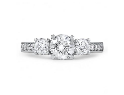3-stone ring with side diamonds