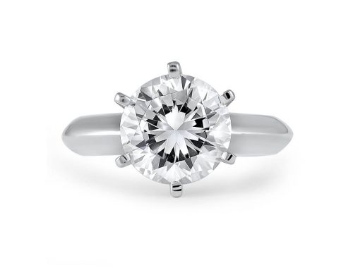 2.5 ct Tiffany-style solitaire