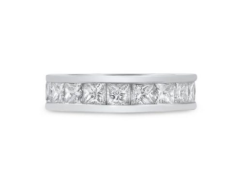 Princess-cut eternity ring