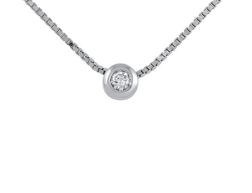 Wide-bezel diamond pendant