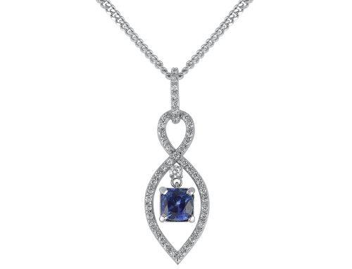Sapphire infinity pendant