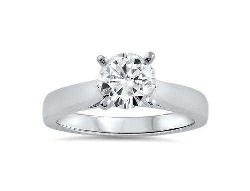 Simple 1.25 ct moissanite ring